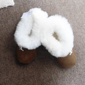 Alpaca Fur and Sheep's Wool Slippers