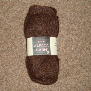 Alpaca yarn in chocolate brown double knit