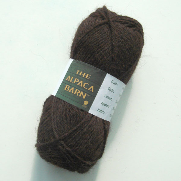 Alpaca Yarn 3ply Dark Brown Double Knit