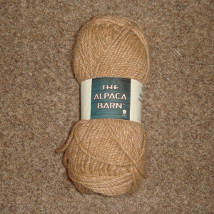 Alpaca yarn in light faun double knit