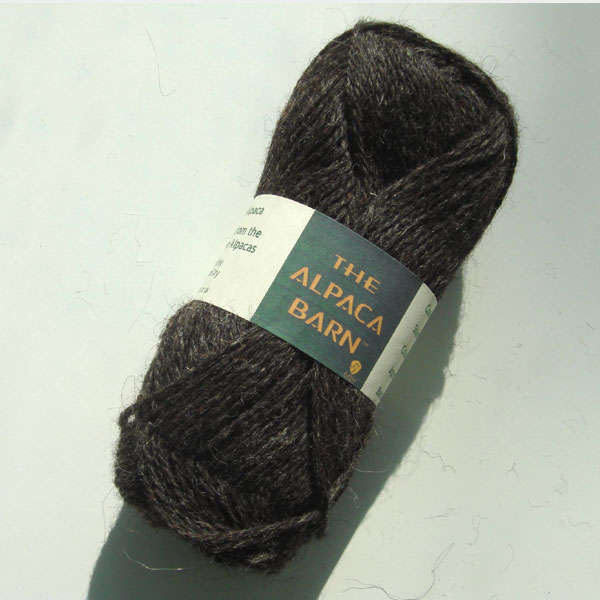 Alpaca Yarn 3ply Dark Grey Double Knit