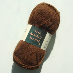 Alpaca yarn in brown 2 ply shetland weight