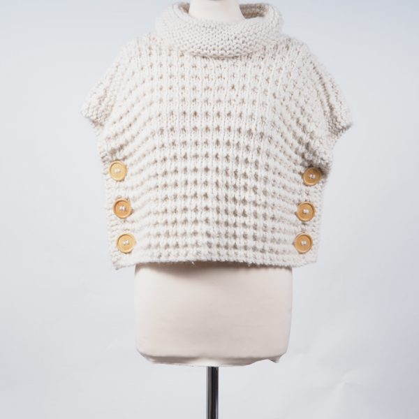 03f2fab03 Alpaca poncho short chunky knit - Alpaca Barn Alpaca Clothing and ...
